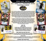 2016 Leaf Metal U.S. Army All-American Bowl Football Hobby 15-Box Case (Presell)