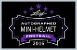 2016 Leaf Autographed Mini-Helmet Football Hobby 8-Box Case (Presell)