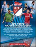 2016 Topps MLS Major League Soccer Soccer Hobby 12-Box Case (Presell)