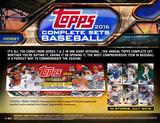 2016 Topps Factory Set Baseball Hobby (Box) Case (12 Sets) (Presell)