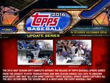 2016 Topps Update Baseball Hobby 12-Box Case (Presell)