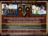 2016 Topps Triple Threads Baseball Hobby 9-Box Case (Presell)