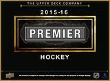 2015/16 Upper Deck Premier Hockey Hobby 5-Box Case (Presell)