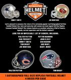 2017 Leaf Autographed Full Size Football Helmet Edition 4-Box Case (Presell)