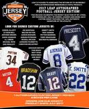 2017 Leaf Autographed Jersey Edition Football Hobby Box (Presell)