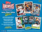 2017 Topps Archives Signature Series Baseball Hobby 20-Box Case (Presell)