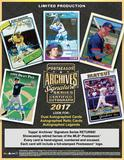 2017 Topps Archives Signature Series Postseason Edition Baseball Hobby 20-Box Case (Presell)
