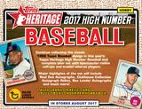 2017 Topps Heritage High Number Baseball Hobby Box (Presell)