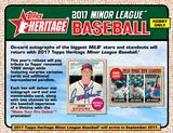 2017 Topps Heritage Minor League Baseball Hobby 12-Box Case (Presell)
