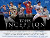 2017 Topps Inception Baseball Hobby 16-Box Case (Presell)
