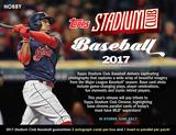 2017 Topps Stadium Club Baseball Hobby Box (Presell)