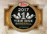 2017 Topps Tier One Baseball Hobby Box (Presell)