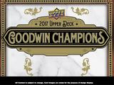 2017 Upper Deck Goodwin Champions Baseball Hobby 16-Box Case (Presell)
