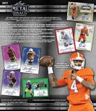 2017 Leaf Metal Draft Football Hobby 15-Box Case (Presell)