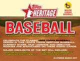2017 Topps Heritage Baseball Hobby 12-Box Case (due March)