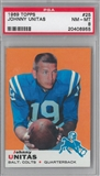 1969 Topps Football Johnny Unitas PSA 8 (NM-MT) *6955