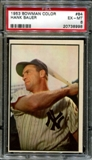 1953 Bowman Color Baseball #84 Hank Bauer PSA 6 (EX-MT) *8998