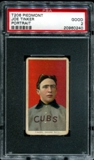 1909-11 T206 Piedmont Joe Tinker (Portrait) PSA 2 (GOOD) *0240