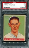 1933 Goudey Baseball #82 Dibrell Williams PSA 3 (VG) *7632