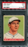 1933 Goudey Baseball #166 Sam West PSA 3.5 (VG+) *7637