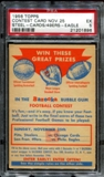 1956 Topps Football Contest Card B (November 25th) PSA 5 (EX) *1896