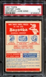 1957 Topps Baseball Contest Card (Saturday, June 22nd) PSA 5 (EX) *2031