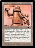 Magic the Gathering Antiquities Single Triskelion MODERATE PLAY (VG/EX)