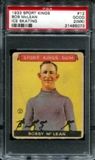 1933 Sport Kings #12 Bob McLean (Ice Skating) PSA 2 (GOOD) (MK) *5073
