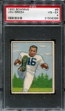 1950 Bowman Football #6 Lou Groza Rookie PSA 4 (VG-EX) *9296