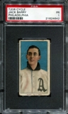 1909-11 T206 Cycle Jack Barry (Philadelphia) PSA 1 (PR) *4642