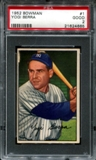 1952 Bowman Baseball #1 Yogi Berra PSA 2 (GOOD) *4665
