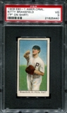 1909 E90-1 American Caramel Kitty Bransfield (P On Shirt) PSA 3 (VG) *5440