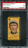1911 T205 Gold Border Cycle Sam Leever PSA 3 (VG) *5554