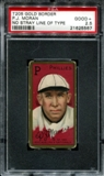 1911 T205 Gold Border Cycle Pat Moran (No Stray Line Of Type) PSA 2.5 (GOOD+) *5567