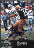 1997 Upper Deck Legends Autographs #AL98 Tom Dempsey