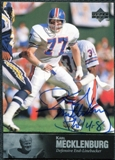 1997 Upper Deck Legends Autographs #AL139 Karl Mecklenburg