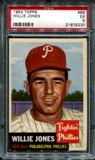 1953 Topps Baseball #88 Willie Jones PSA 5 (EX) *5230