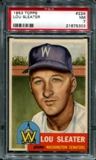 1953 Topps Baseball #224 Lou Sleater PSA 7 (NM) *5303