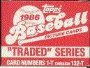1986 Topps Traded & Rookies Baseball Factory Set