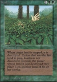 Magic the Gathering Unlimited Single Kudzu - NEAR MINT (NM)