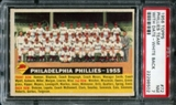 1956 Topps Baseball #72 Philadelphia Phillies Team (With Date) PSA 7 (NM) *8502