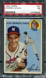 1954 Topps Baseball #20 Warren Spahn PSA 7 (NM) *8585