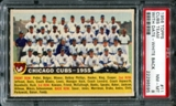 1956 Topps Baseball #11 Chicago Cubs Team (With Date) PSA 8 (NM-MT) *8595