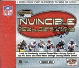 2001 Pacific Invincible Football Hobby Box