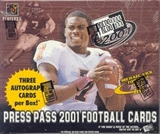 2001 Press Pass Football Hobby Box