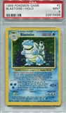 Pokemon Base Set 1 Single Blastoise 2/102 - PSA 9 - *22915425*