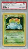 Pokemon Base Set 2 Single Venusaur 18/130 - PSA 8 - *22915448*