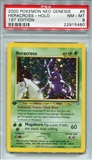 Pokemon Neo Genesis Single Heracross 6/111 1st Edition - PSA 8 - *22915480*