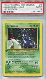 Pokemon Neo Genesis Single Heracross 6/111 1st Edition - PSA 9 - *22915481*