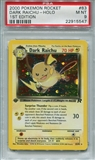 Pokemon Team Rocket Single Dark Raichu 83/82 1st Edition - PSA 9 - *22915547*